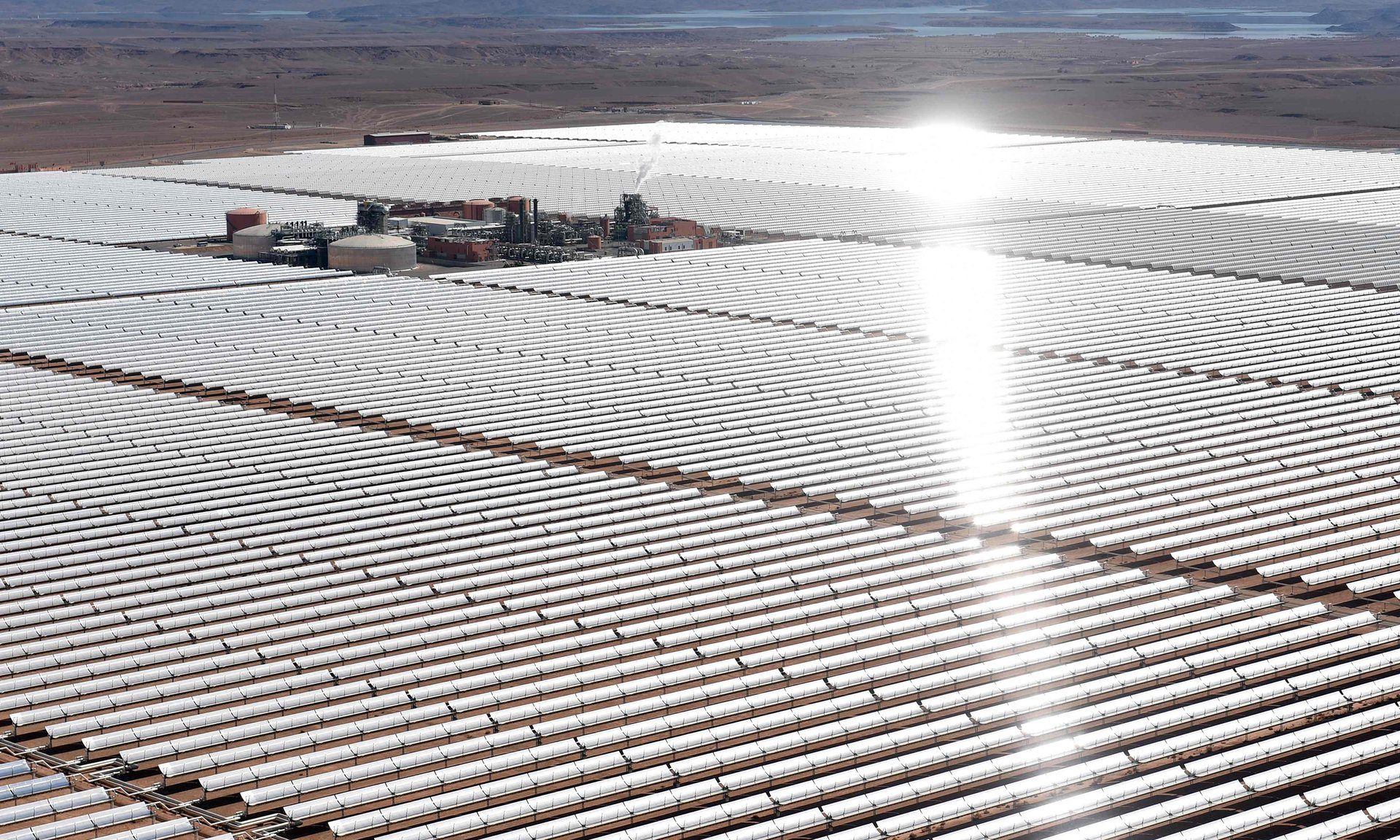 Nour 1 concentrated Solar Power Plant in Ouarzate Photograph: Fadel Senna/AFP/Getty Images
